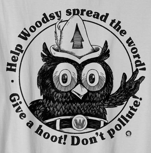 Woodsy Owl - Give a Hoot. Don't Pollute! Retro T-Shirt